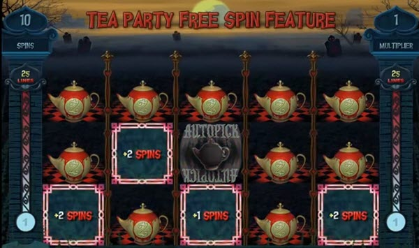 Tea Party Free Spins of alaxe in zombieland slot game