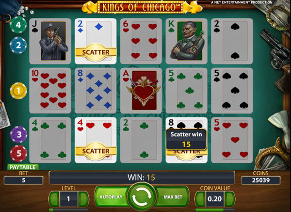 scatter symbol of kings of chicago slot game