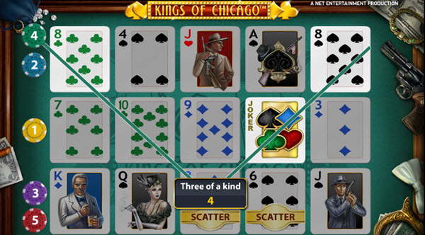 wild symbol of kings of chicago slot game