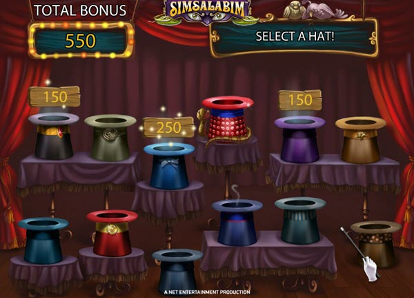 bonus game of Simsalabim slot game