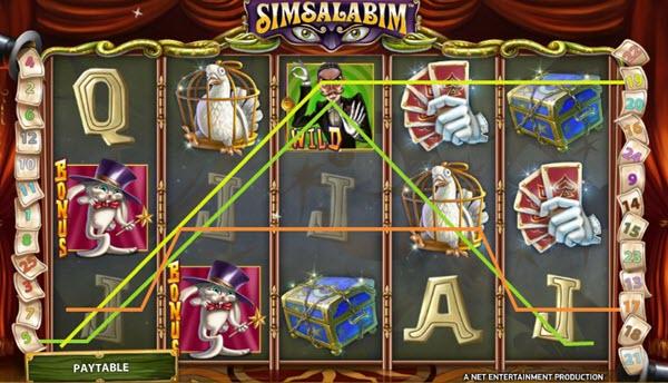 wild symbol of Simsalabim slot game