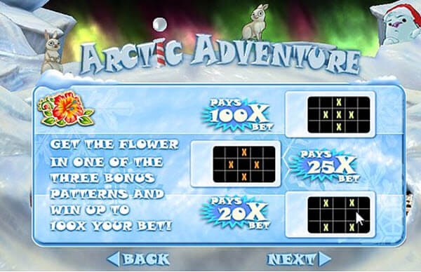 flower symbol of arctic adventure slot game
