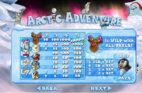 wild symbol of arctic adventure slot game