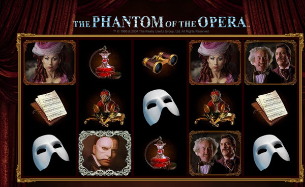 scatter symbol of phantom of the opera slot game