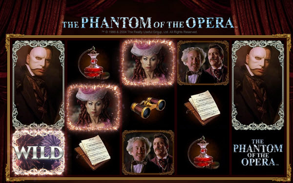 wild symbol of phantom of the opera slot game