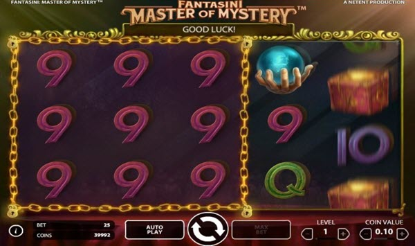 Twin Reel Feature of Fantasini Master of Mystery slot game