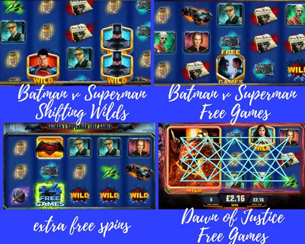 bpnus games of Batman vs. Superman Dawn of Justice slot game