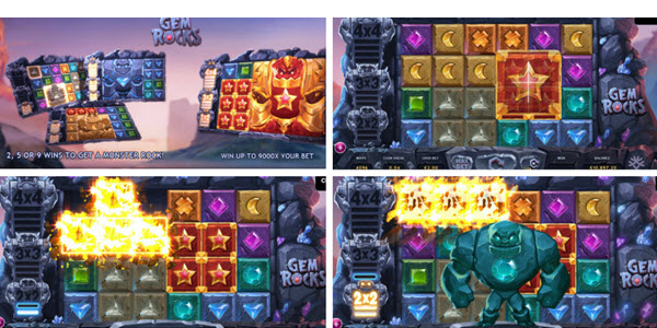 bonus rounds and features of Gem Rocks slot game