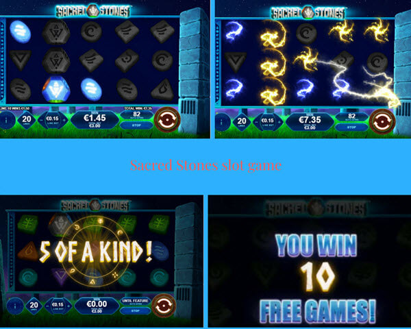 bonus features of Sacred Stones slot game