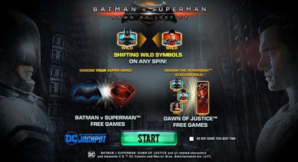 Batman v Superman Dawn of Justice slot game