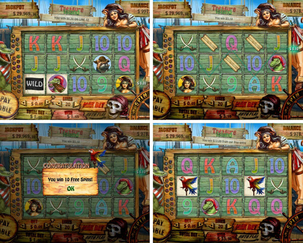Treasure island slot game