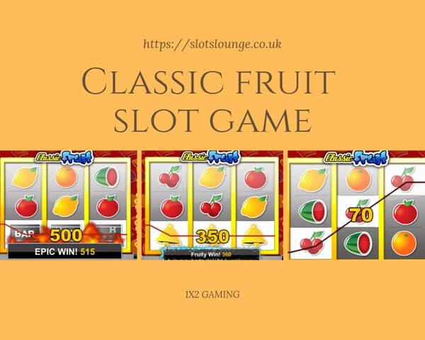 The Symbols ofClassic fruit slot game