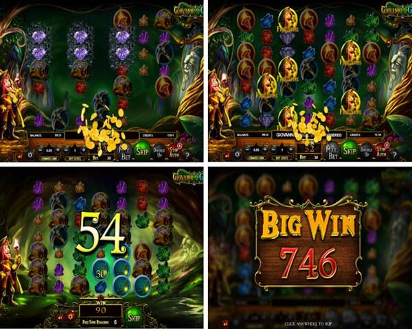 free spins and bonus symbol of Giovanni's Gems slot game