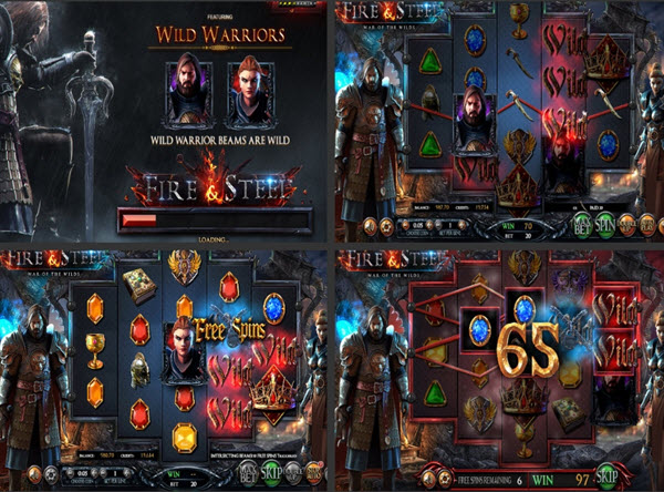 Features of Fire and Steel slot game