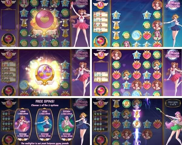 Bonus Rounds of Moon Princess slot game